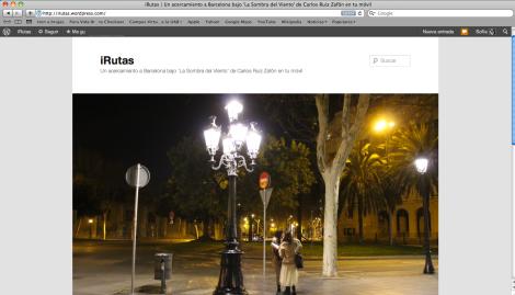 Esta es la página de inicio de iRutas.wordpress.com